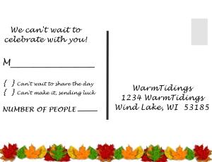 Fall Wdding invite RSVP - Vista Print Size - Page 002