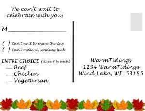 Fall Wdding invite RSVP - Vista Print Size - Page 003