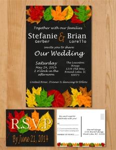 Wedding invite presentation