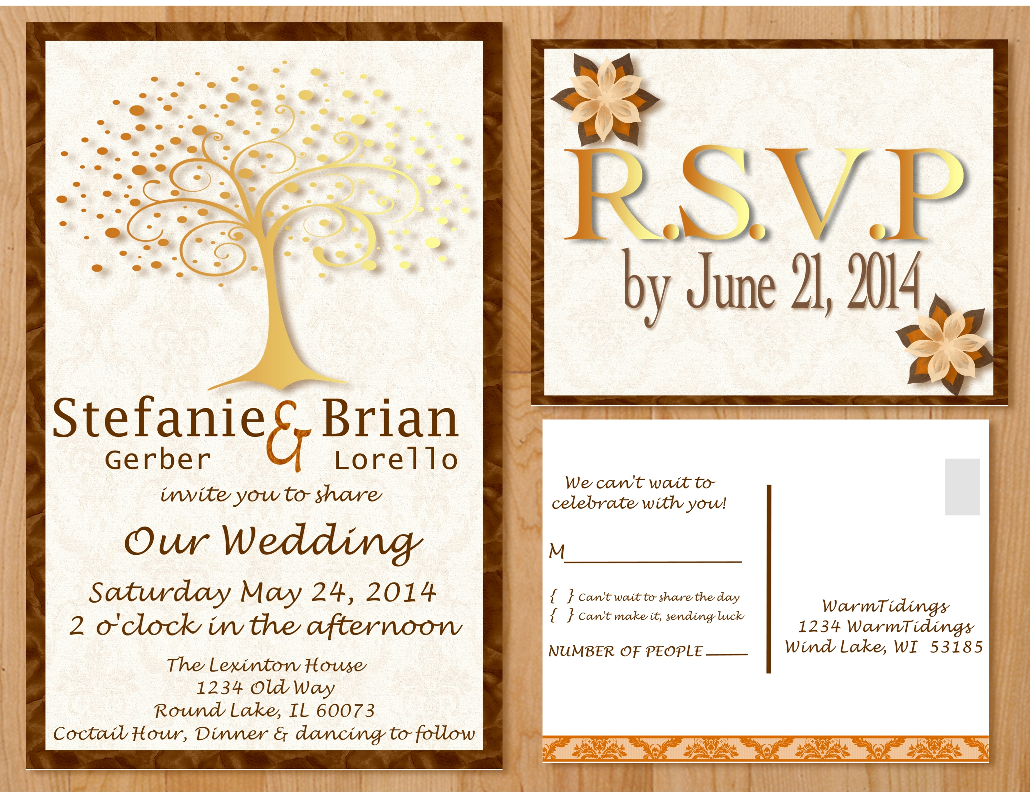 NEW Custom Wedding Invitation Now Posted On Etsy U2013 Fall Tree U2013 Office  Supplies Never Broke My Heart